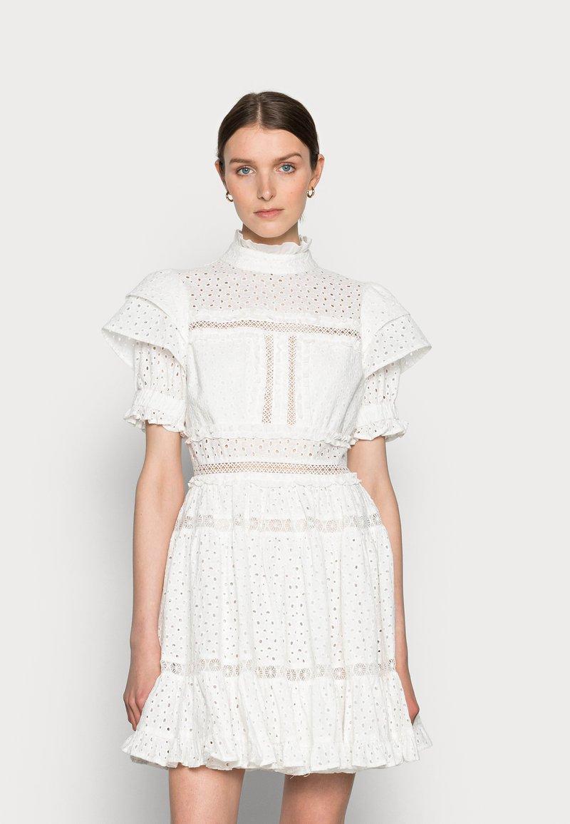 By Malina - IRO MINI LACE DRESS - Blousejurk - white