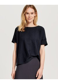 Opus - SIGRONE - Basic T-shirt - dark blue - 0