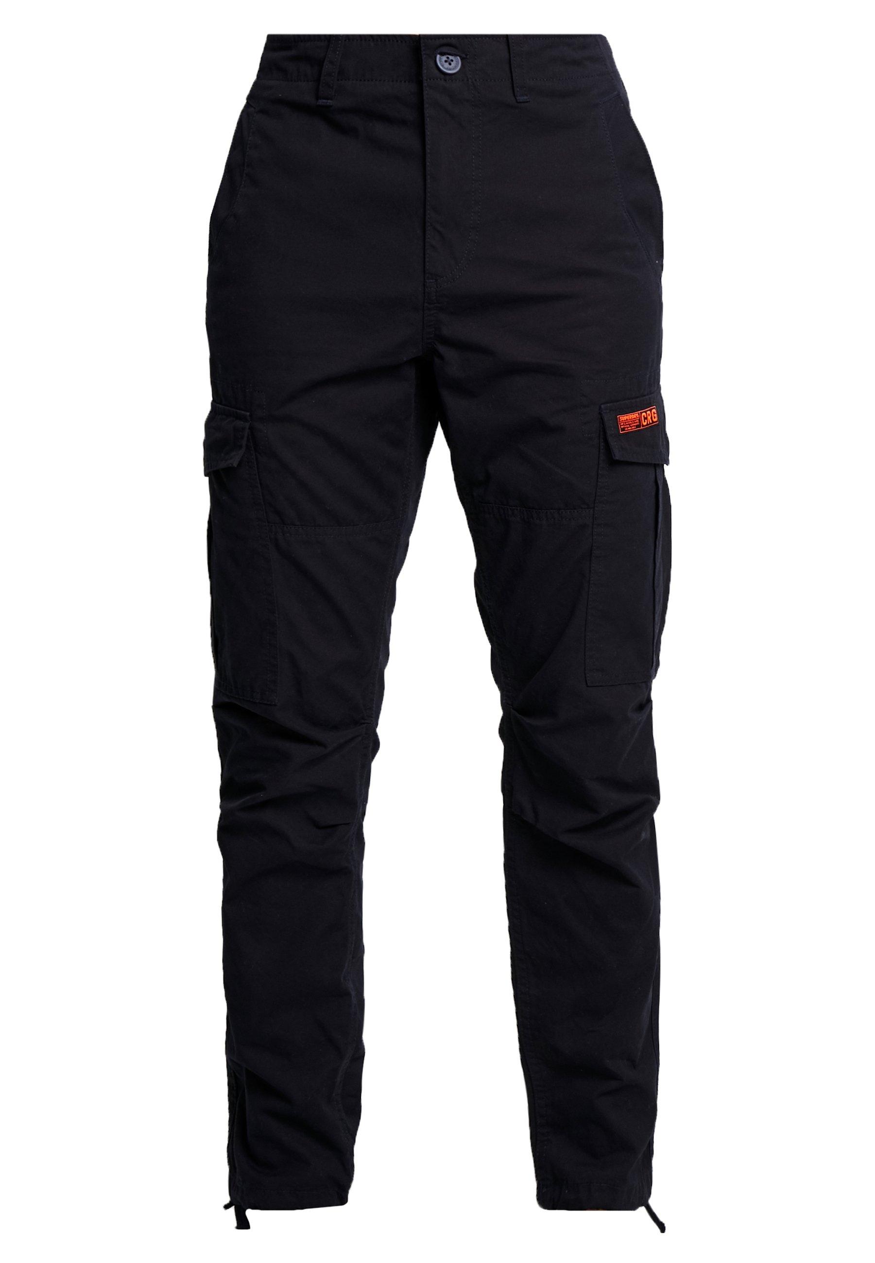 Superdry PARACHUTE PANT - Pantalon cargo - midnight navy