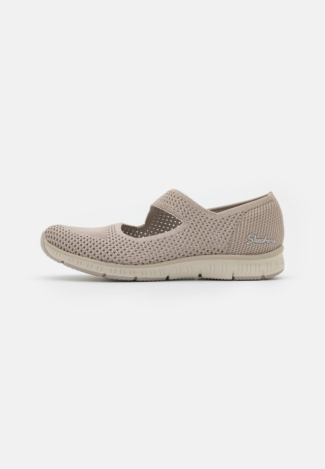 BE COOL - Ankle strap ballet pumps - taupe/natural