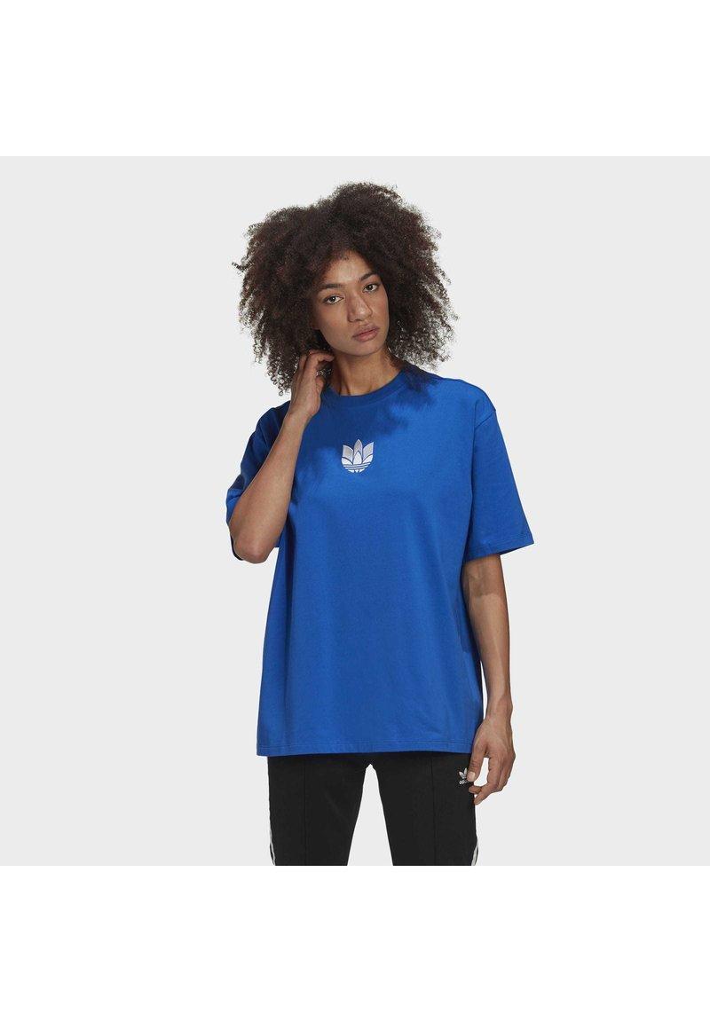 adidas Originals - ADICOLOR 3D TREFOIL T-SHIRT - T-Shirt print - blue