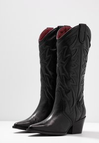 Bronx - JUKESON - Cowboy/Biker boots - black - 4