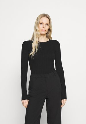 SCALLOP DETAIL - Jumper - black