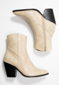 ONLY SHOES - ONLBLAKE STRUCTURED HEELED BOOT - Botines de tacón - offwhite - 3