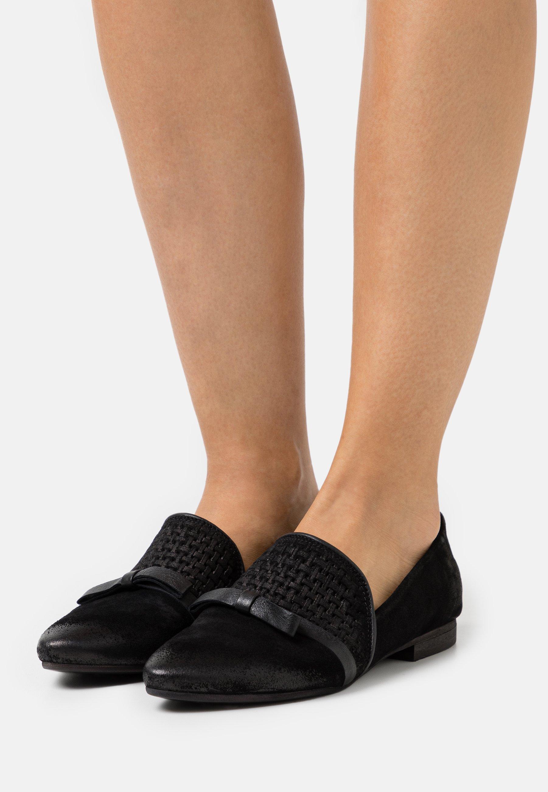 Women FLAVIA - Slip-ons - treccia black