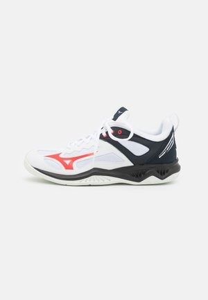 GHOST SHADOW - Handball shoes - white/ignition red/salute