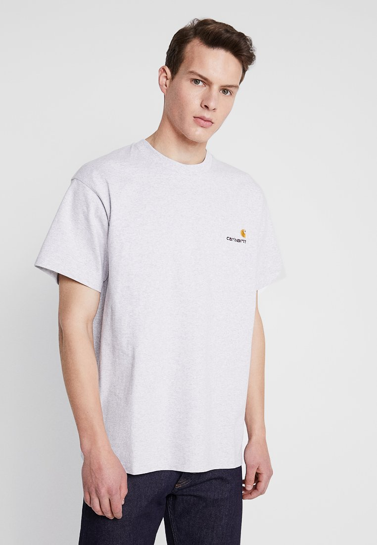 Carhartt WIP - AMERICAN SCRIPT  - T-shirt basique - ash heather