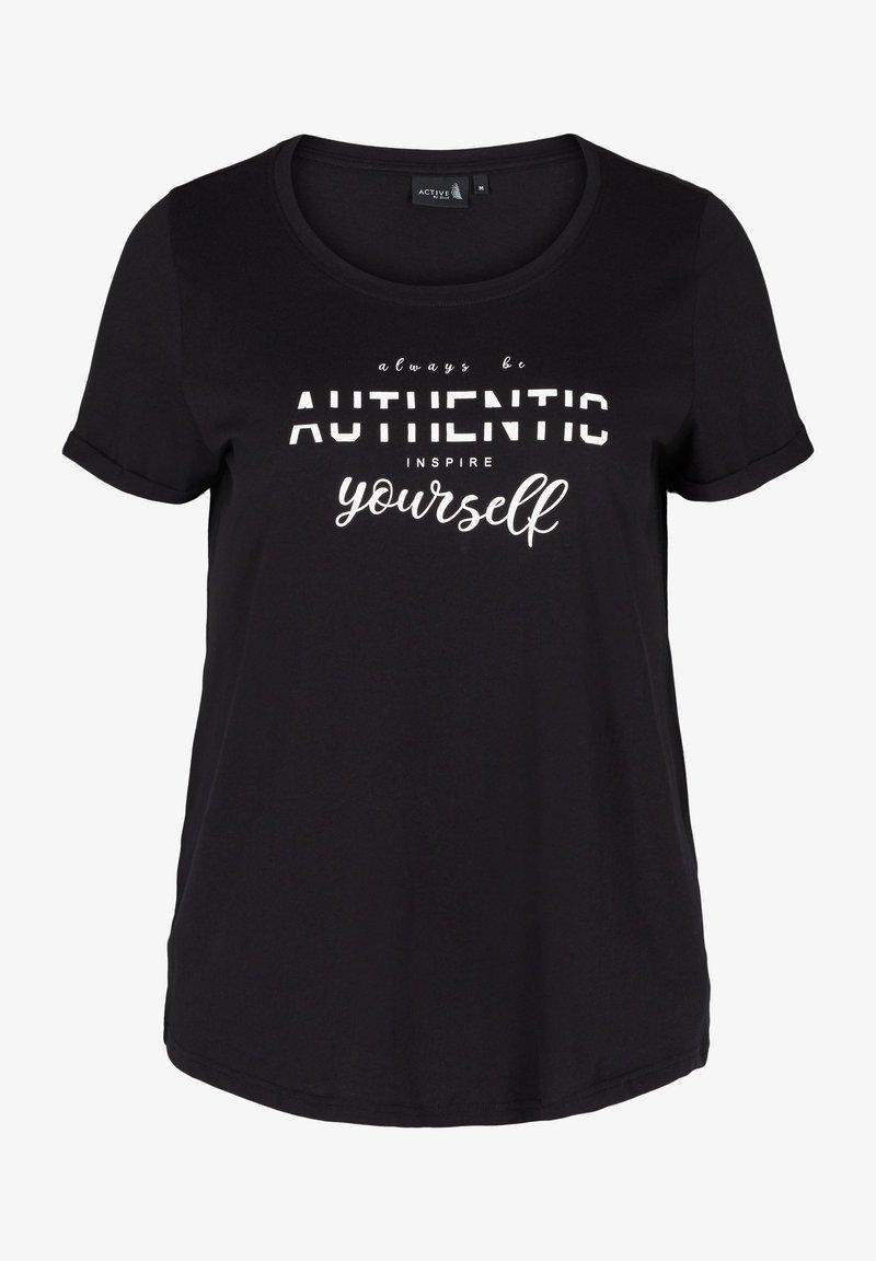 Zizzi - Print T-shirt - black