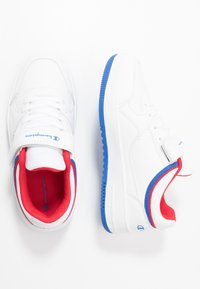 Champion - LOW CUT SHOE REBOUND UNISEX - Chaussures de basket - white/red - 0