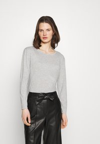Marks & Spencer London - RELAXD CREW - Long sleeved top - grey - 0