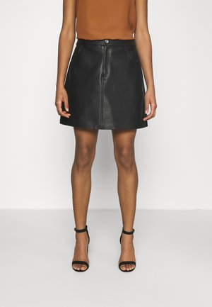 KIM VEGAN - Mini skirt - black