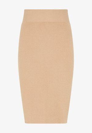 Pencil skirt - dunkelbeige