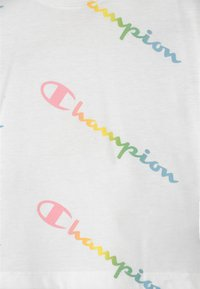 Champion - COLOR LOGO CREWNECK - Camiseta estampada - white - 2