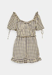 Missguided - GINGHAM PLAYSUIT - Overal - yellow - 3