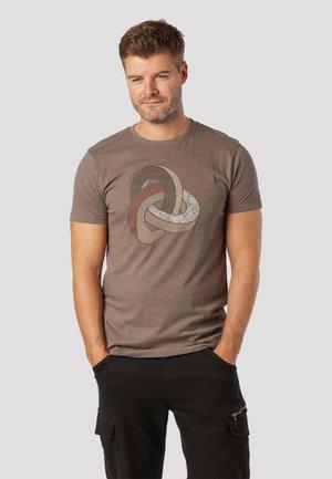 T-shirt print - major brown mix