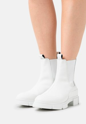 YASRAINY BOOTS - Platform ankle boots - all white or all beige