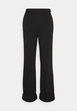 WIDE LEG PANTS - Trousers - black