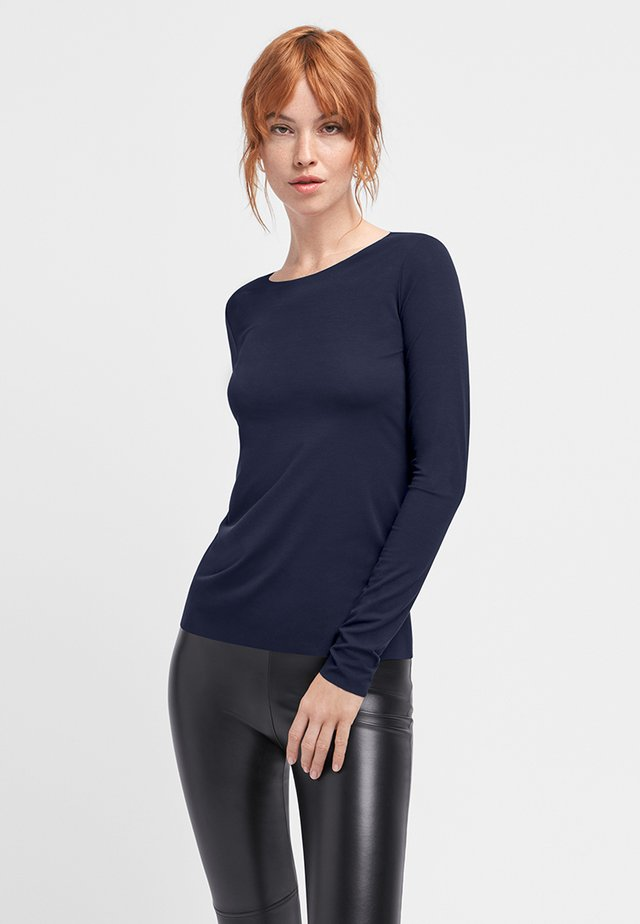AURORA PURE  - Long sleeved top - navy opal