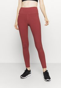 Under Armour - FAVORITE LEGGING HI RISE - Leggings - cinna red - 0