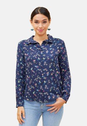 MANDALA - Button-down blouse - navy blue