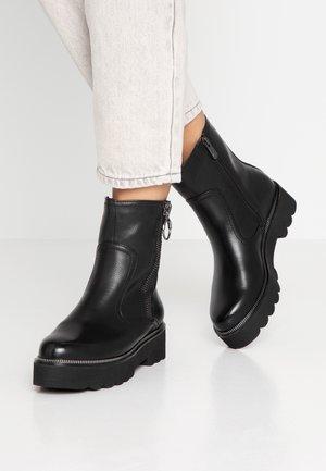 Kovbojské/motorkářské boty - black antic
