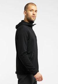 Haglöfs - BUNGY HOOD - Fleece jacket - true black - 2