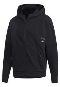 adidas Performance - MUST HAVES ENHANCED AEROREADY HOODED - Sweatjacke - black - 9