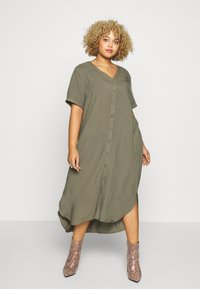 ONLY Carmakoma - CARDENIZIA CALF DRESS SOLI - Day dress - kalamata - 1