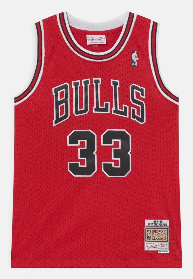 Mitchell & Ness - NBA CHICAGO BULLS SCOTTIE PIPPEN 33 UNISEX - Equipación de clubes - red