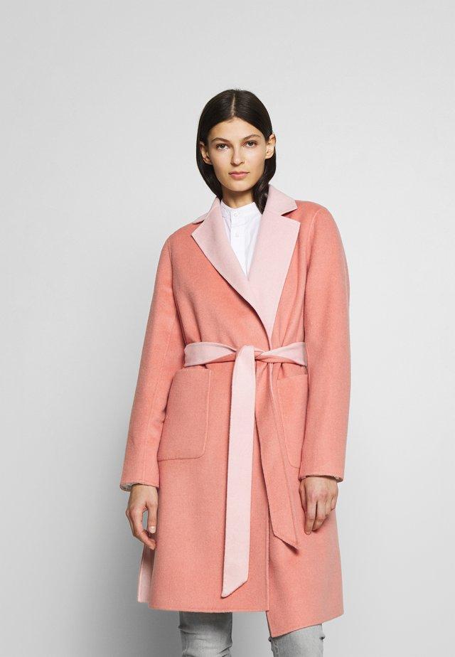 Classic coat - pink macaron/apricot