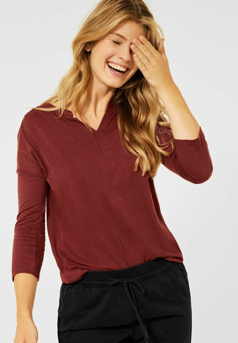 Cecil - Long sleeved top - braun