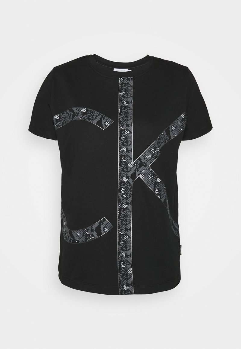 Calvin Klein - PRINT REGULAR FIT - Print T-shirt - black