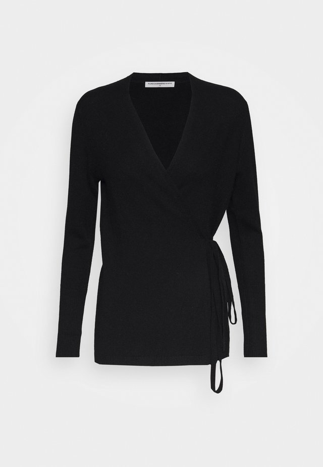 WRAP CARDIGAN - Kardigan - black