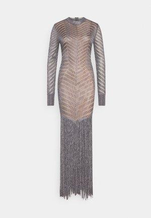 FRINGE GOWN - Robe de cocktail - gunmetal