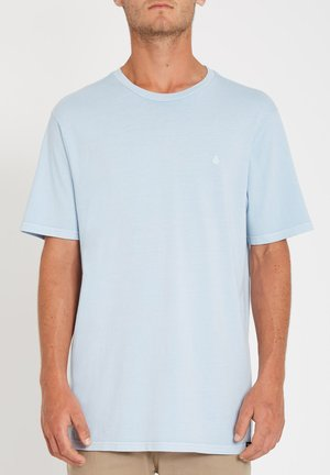 SOLID STONE EMB SS TEE - T-shirt basique - aether_blue