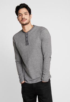 STRUCTURED FABRIC - Long sleeved top - black/grey