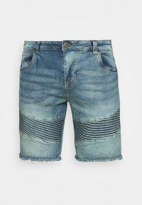 NATHEO - Denim shorts - blue denim