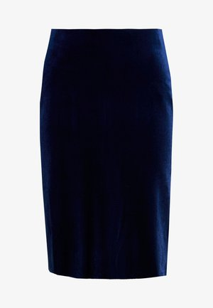 NAURA - Pencil skirt - medieval blue