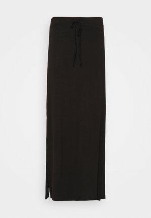 VIDINA SKIRT - Falda larga - black