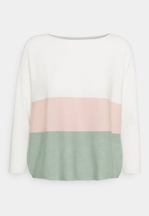 VMNELLIE GLORY 3/4 - Pullover - cloud dancer/sepia rose/jade