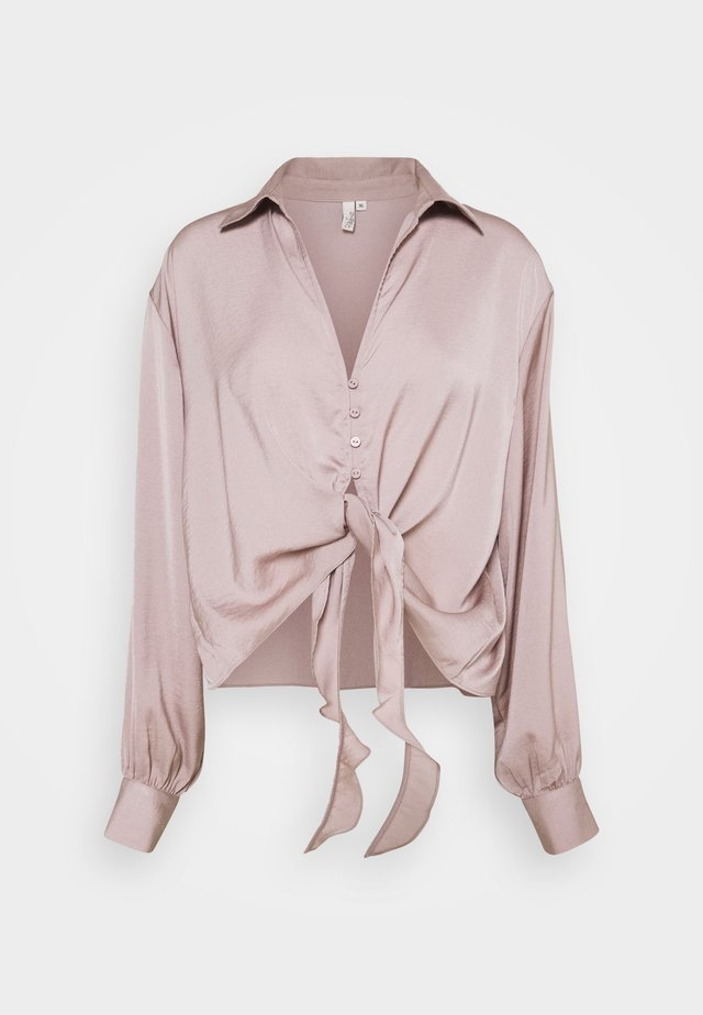 LET ME KNOW TIE - Blouse - dusty lilac