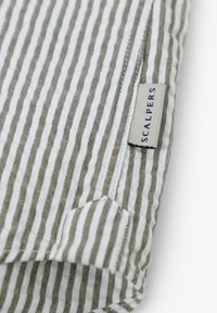 Scalpers - SCALPERS TEXTURED STRIPED SHIRT - Shirt - khaki stripes