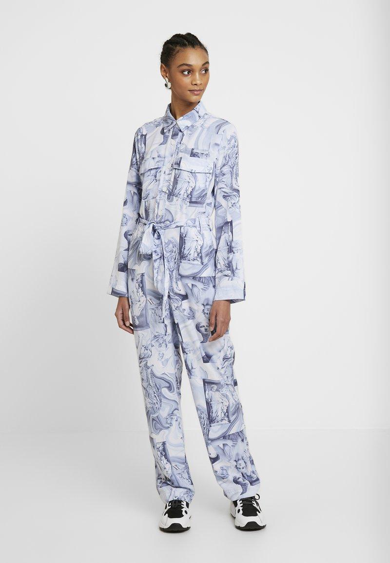 Monki - JONNA WORKWEAR - Jumpsuit - blue