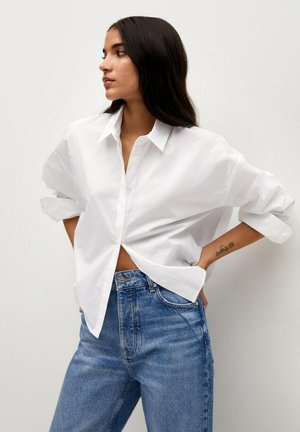CROP - Overhemdblouse - bianco sporco