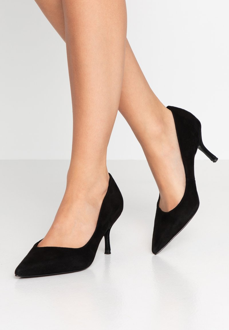 Dune London WIDE FIT - WIDE FIT ANDES - Classic heels - black