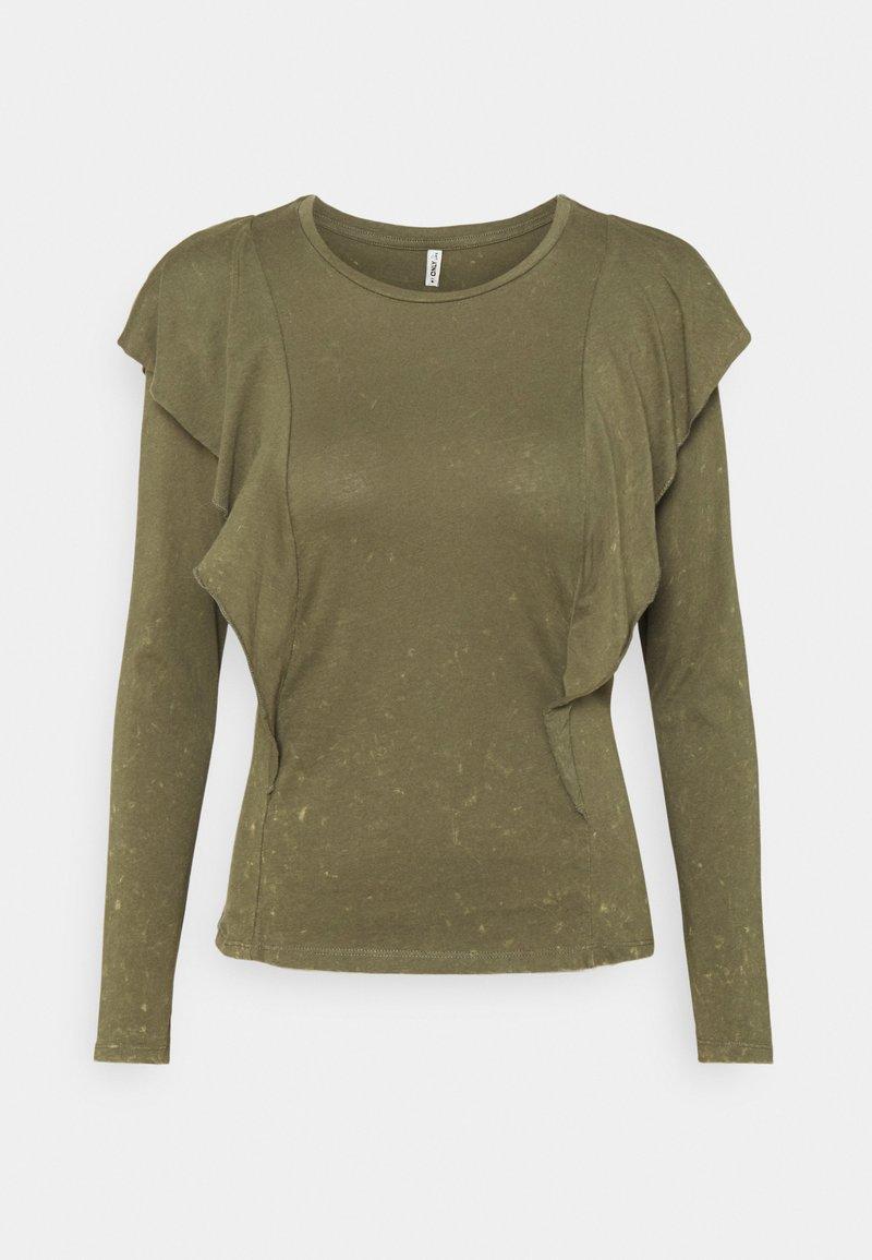 ONLY - ONLLUCILLA LIFE FRILL - Long sleeved top - kalamata