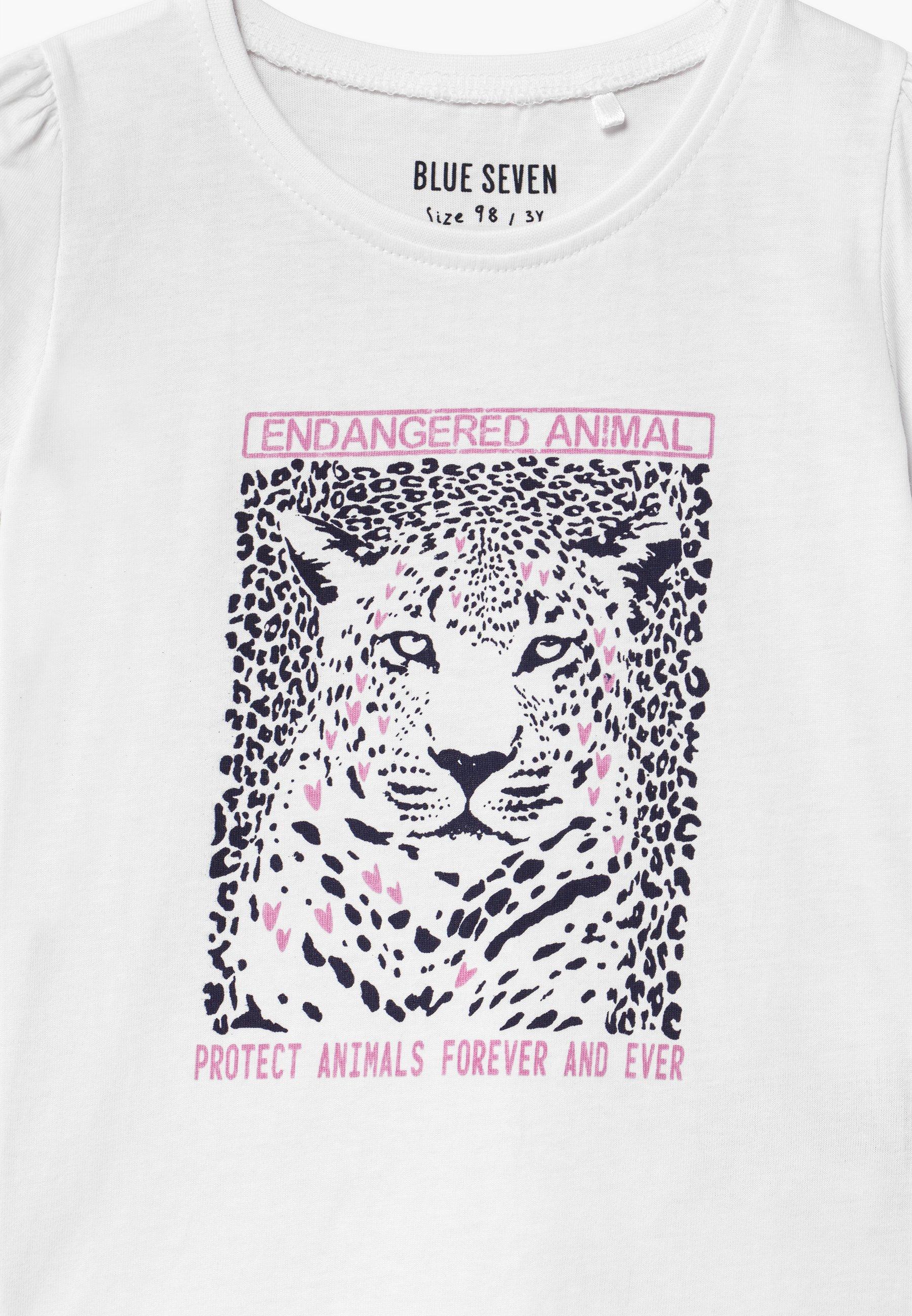 Kids SMALL GIRLS LEOPARD - Print T-shirt