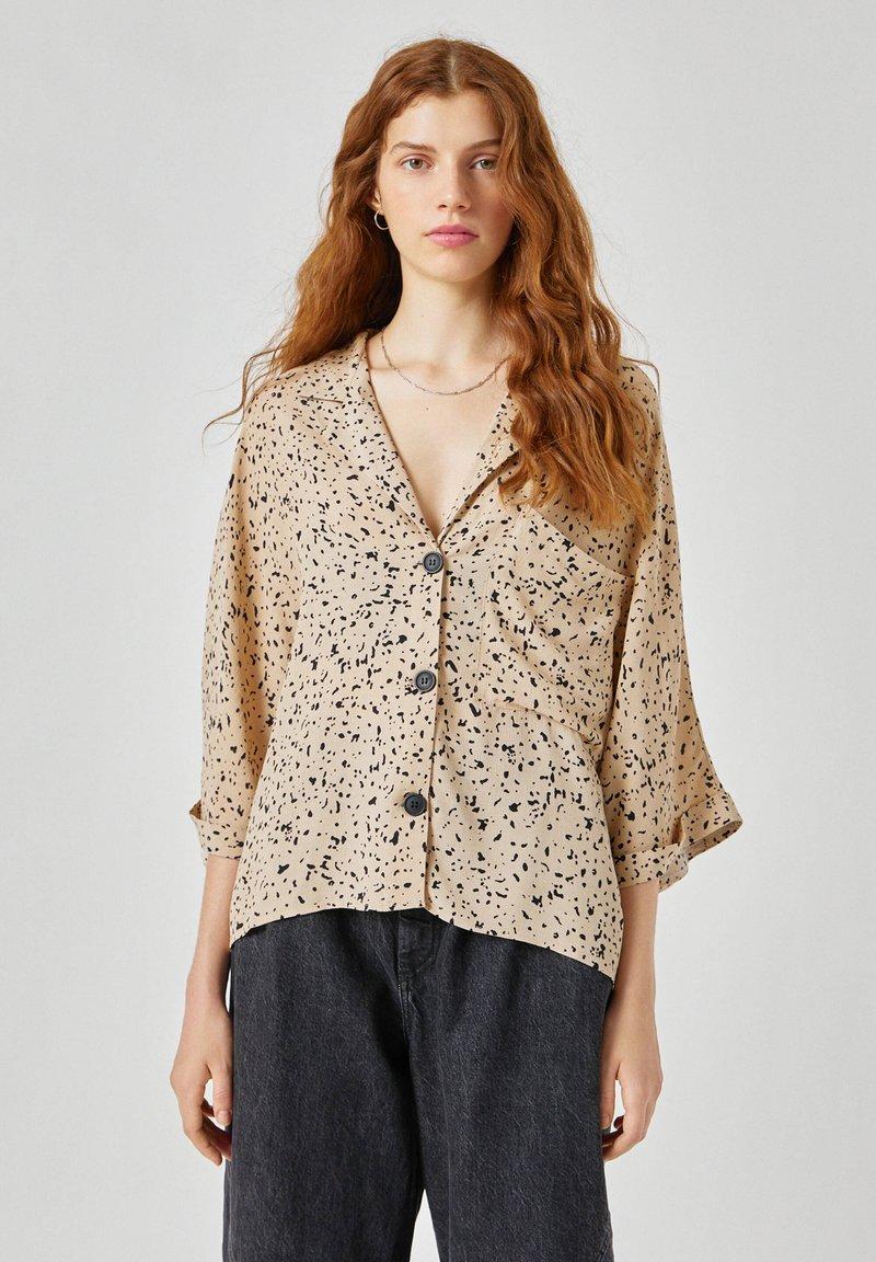 PULL&BEAR - Button-down blouse - beige