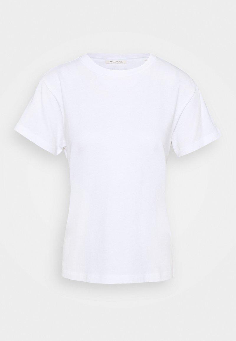 Marc O'Polo - SHORT SLEEVE ROUND NECK LOGO AT BACK NECK - Basic T-shirt - white