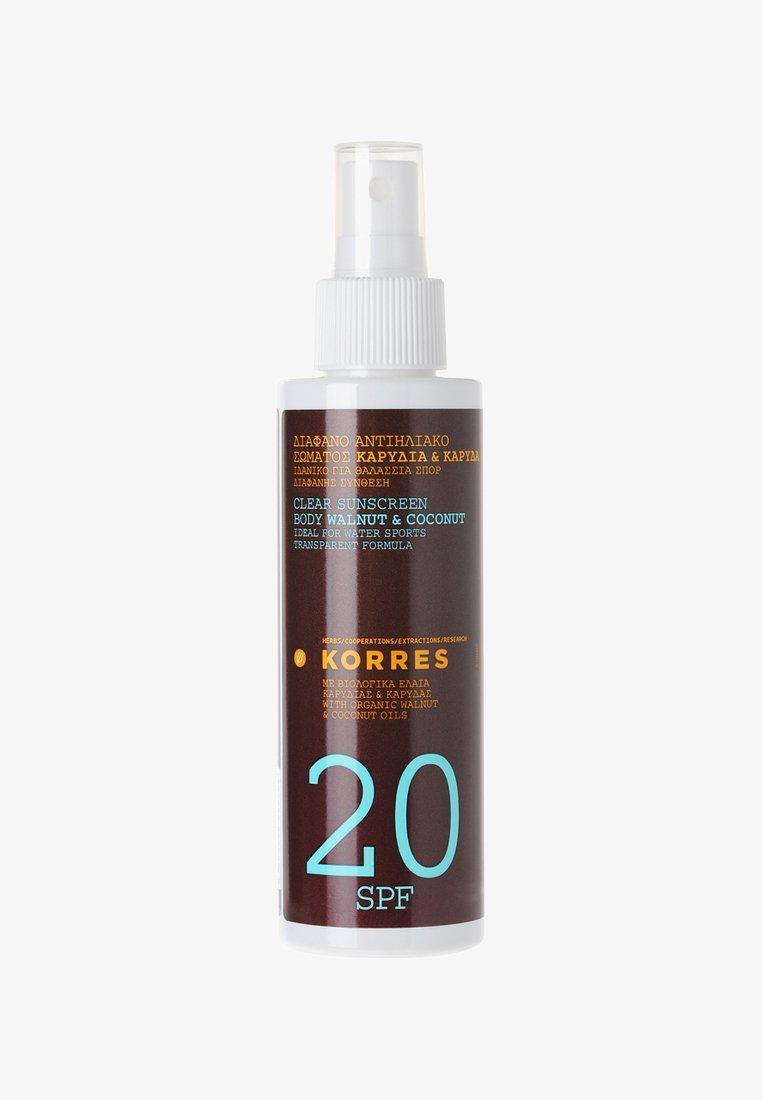 Korres - WALNUT & COCONUT BODY CREAM SPF20 - Sun protection - -